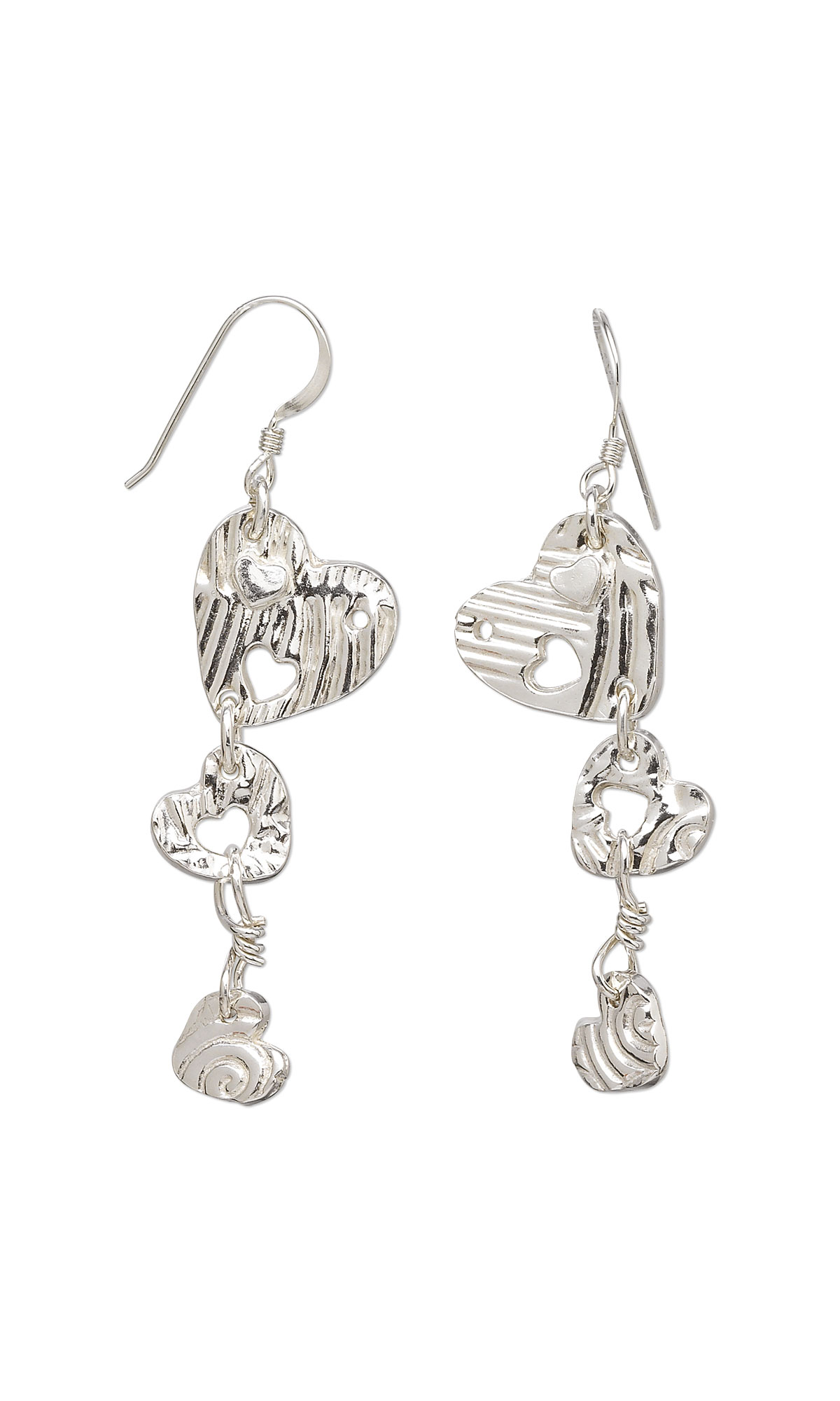 jewelry design earrings with clay 174 silver and