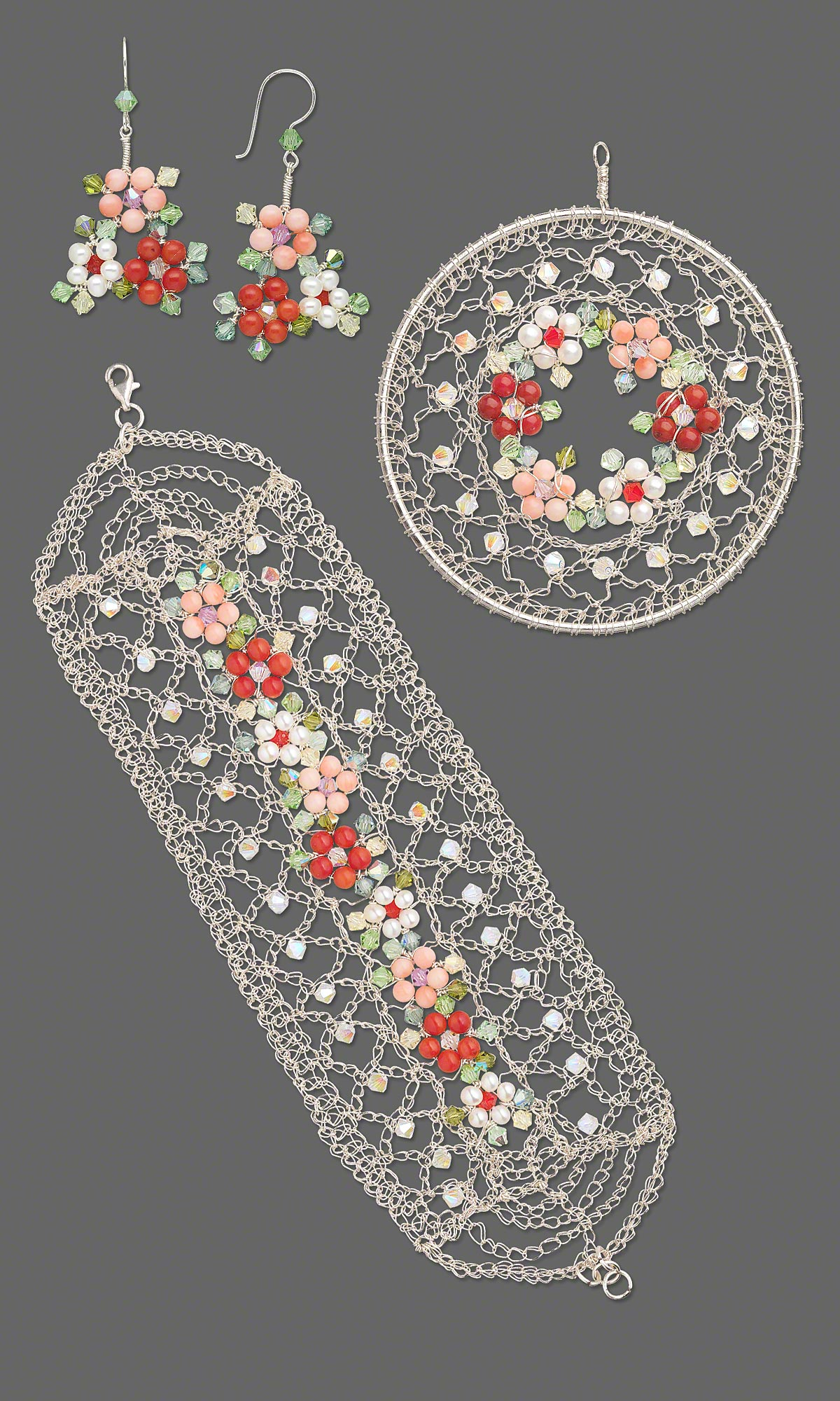 Jewelry Design Multi Strand Bracelet Pendant And