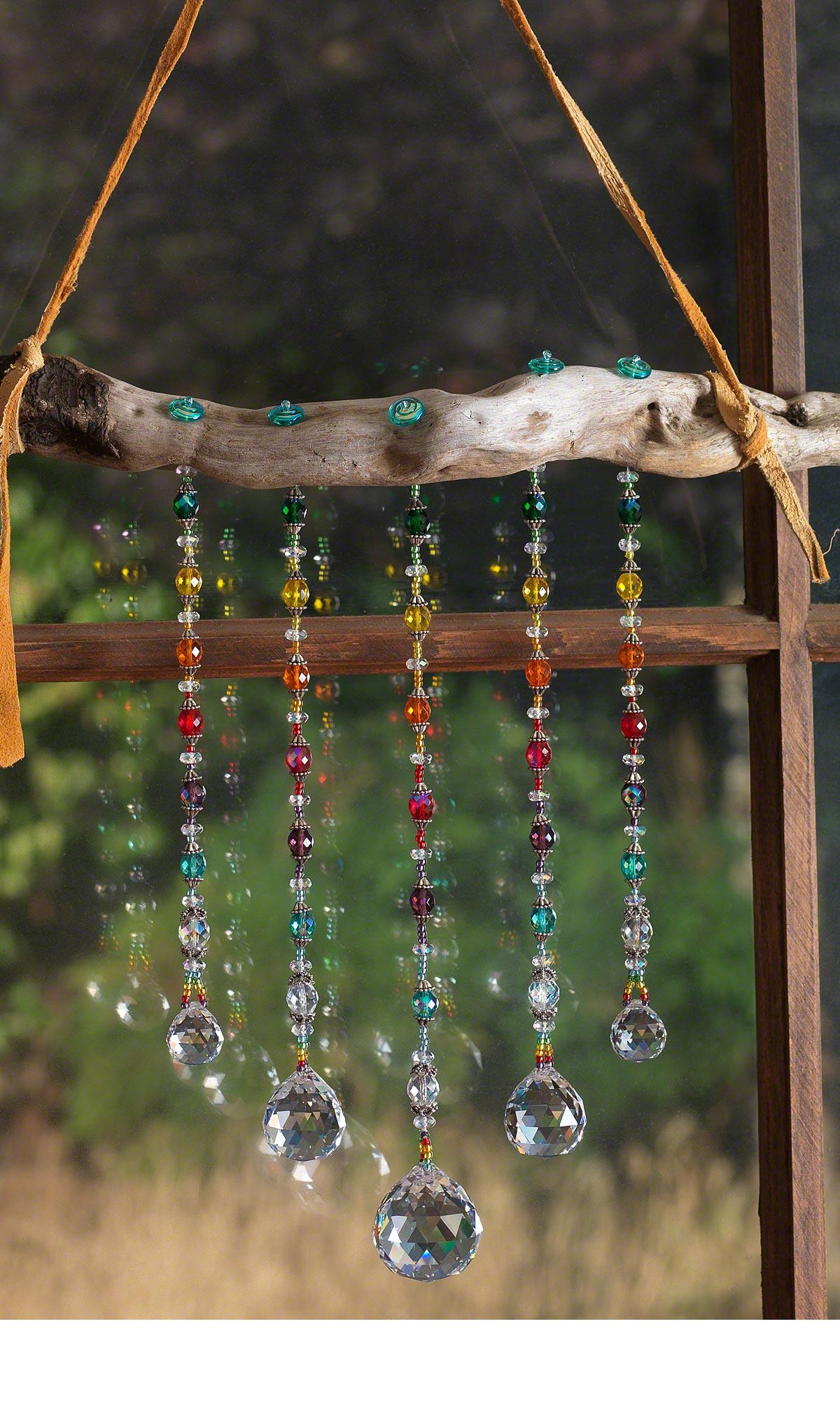 Jewelry Design Rainbow Catcher With Fire Polished Beads