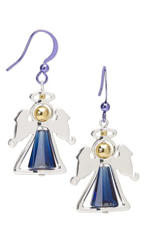 Jewelry Design - Earrings with Swarovski Crystal, Silver-Finished