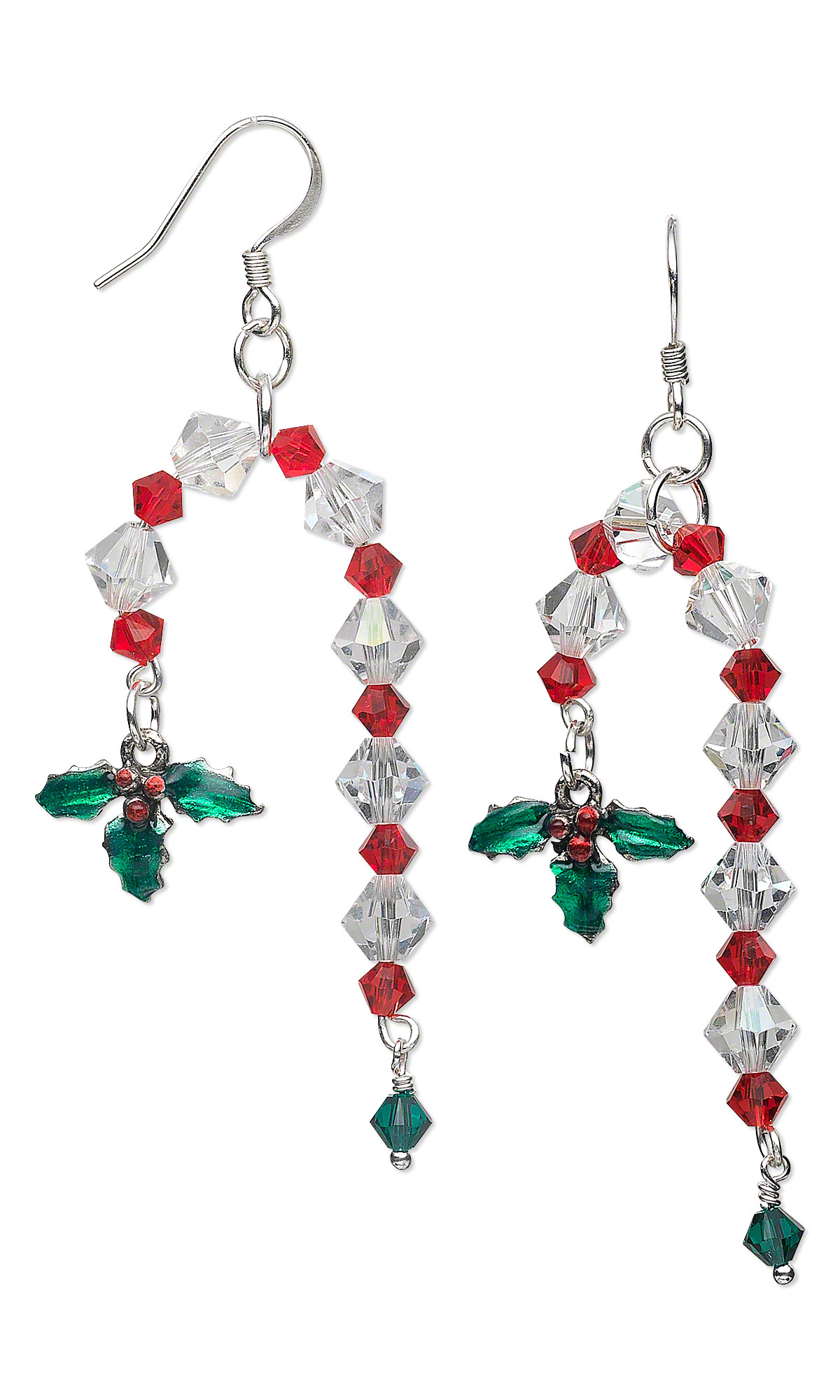 Candy Cane Jewelry Candy Cane Earrings With