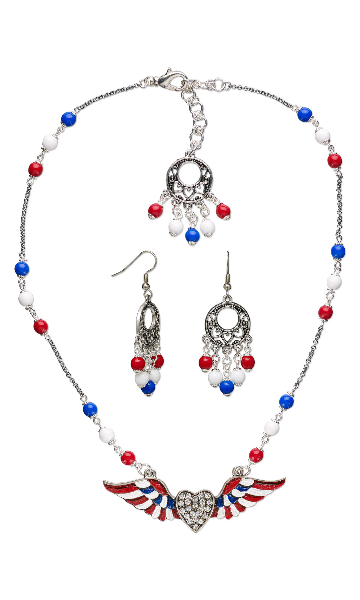 Jewelry design single strand necklace and earring set for Pebeo vitrail glass paint instructions