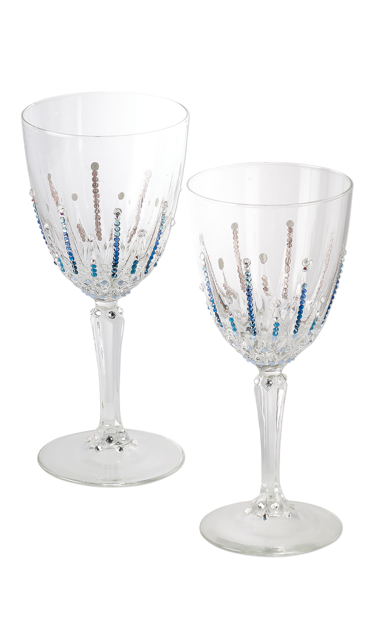 Jewelry design wine glass with swarovski crystals fire mountain gems and beads - Swarovski stemware ...