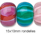 15x10mm Rondelle Beads