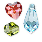 Other Crystal Beads, Drops and Rhinestones in Factory Packs