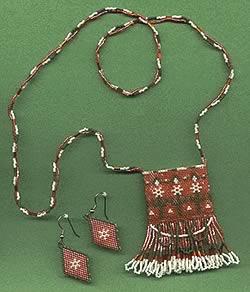 BeadKnitter Patterns: Peyote Amulet Necklace