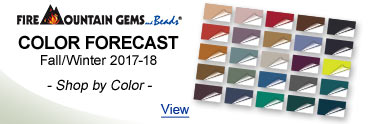 Fire Mountain Gems Color Forecast - Fall/Winter 2017-18