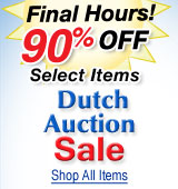 Dutch Auction Sale Final Hours! Now 90% Off Select Items