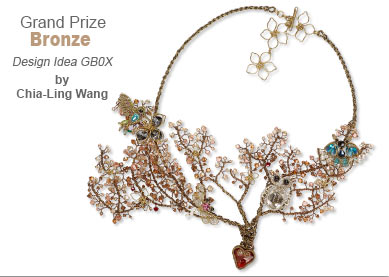 Swarovski crystal Contest Grand Prize Bronze Medal Winner by Chia-Ling Wang - Design Idea GB0X