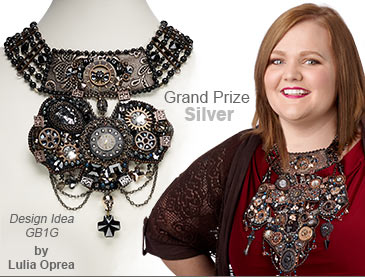 Swarovski crystal Contest Grand Prize Silver Medal Winner by Lulia Oprea - Design Idea GB1G