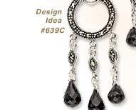 View Design Idea featuring Sterling Silver with Marcasite Earring Findings and Gemstone Briolettes