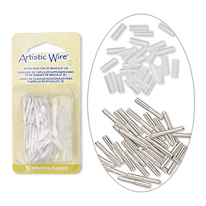 3d bracelet jig pegs, beadalon, steel and plastic, clear, (30) 23x3mm pegs and (30) 12x4mm fasteners. sold per 60-piece set.