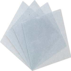 3m™ wetordry™ polishing paper, silicon carbide, grey, 600 grit, 5x5-inch square. sold per pkg of 4.