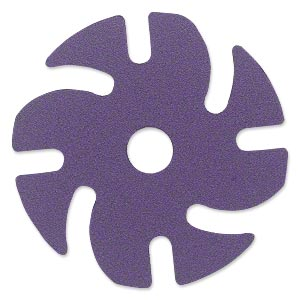 Abrasive disc, 3M™ Ninja™, plastic and ceramic, purple, 220 grit, 3-inch replacement disc for Jooltool™. Sold per pkg of 6.