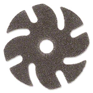 Abrasive disc, 3M™ Scotch-Brite™ EXL Unitized, plastic, brown, coarse grit, 3-inch replacement disc for Jooltool™. Sold individually.