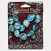 Bead, Blue Moon Beads®, moss agate (dyed), turquoise blue, small nugget. Pkg/12.