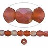 Bead, Preciosa Czech fire-polished glass, brown matte AB, 6mm faceted round. Sold per pkg of 1,200 (1 mass).