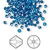 Bead, Swarovski crystal, Crystal Passions®, Capri blue, 3mm Xilion bicone (5328). Sold per pkg of 48.