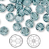 Bead, Swarovski crystal, Crystal Passions®, Indian sapphire, 8mm faceted round (5000). Sold per pkg of 144 (1 gross).