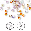 Bead, Swarovski crystal, Crystal Passions®, Innocence, 4mm Xilion bicone (5328). Sold per pkg of 144 (1 gross).