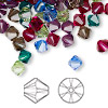 Bead, Swarovski crystal, Crystal Passions®, Jewel, 6mm Xilion bicone (5328). Sold per pkg of 24.