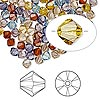 Bead, Swarovski crystal, Crystal Passions®, Oregon Evening, 4mm Xilion bicone (5328). Sold per pkg of 48.