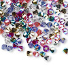 Bead, Swarovski crystal, Crystal Passions®, Rock Star, 4mm Xilion bicone (5328). Sold per pkg of 144 (1 gross).