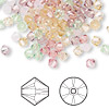 Bead, Swarovski crystal, Crystal Passions®, Tenderness, 4mm Xilion bicone (5328) and faceted bicone (5301). Sold per pkg of 48.