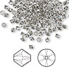 Bead, Swarovski crystal, Crystal Passions®, black diamond, 3mm Xilion bicone (5328). Sold per pkg of 48.