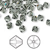 Bead, Swarovski crystal, Crystal Passions®, black diamond, 6mm Xilion bicone (5328). Sold per pkg of 24.