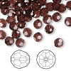Bead, Swarovski crystal, Crystal Passions®, burgundy, 6mm faceted round (5000). Sold per pkg of 144 (1 gross).