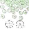 Bead, Swarovski crystal, Crystal Passions®, chrysolite, 6mm faceted round (5000). Sold per pkg of 144 (1 gross).