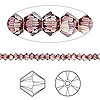 Bead, Swarovski crystal, Crystal Passions®, crystal antique pink, 3mm Xilion bicone (5328). Sold per pkg of 144 (1 gross).
