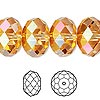 Bead, Swarovski crystal, Crystal Passions®, crystal astral pink, 18x12mm faceted rondelle (5040). Sold individually.