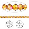 Bead, Swarovski crystal, Crystal Passions®, crystal astral pink, 3mm Xilion bicone (5328). Sold per pkg of 144 (1 gross).