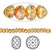 Bead, Swarovski crystal, Crystal Passions®, crystal astral pink, 4x3mm faceted rondelle (5040). Sold per pkg of 144 (1 gross).