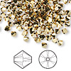 Bead, Swarovski crystal, Crystal Passions®, crystal aurum 2X, 4mm Xilion bicone (5328). Sold per pkg of 144 (1 gross).