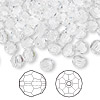 Bead, Swarovski crystal, Crystal Passions®, crystal clear, 6mm faceted round (5000). Sold per pkg of 144 (1 gross).