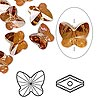 Bead, Swarovski crystal, Crystal Passions®, crystal copper, 10x9mm faceted butterfly (5754). Sold per pkg of 48.