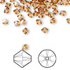 Bead, Swarovski crystal, Crystal Passions®, crystal copper, 4mm Xilion bicone (5328). Sold per pkg of 144 (1 gross).