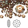 Bead, Swarovski crystal, Crystal Passions®, crystal copper, 6x2mm faceted marguerite lochrose flower (3700). Sold per pkg of 144 (1 gross).