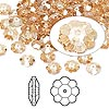Bead, Swarovski crystal, Crystal Passions®, crystal golden shadow, 6x2mm faceted marguerite lochrose flower (3700). Sold per pkg of 12.