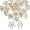 Bead, Swarovski crystal, Crystal Passions®, crystal golden shadow, 8x8mm faceted star (5714). Sold per pkg of 24.