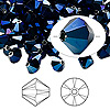 Bead, Swarovski crystal, Crystal Passions®, crystal metallic blue 2X, 6mm Xilion bicone (5328). Sold per pkg of 144 (1 gross).