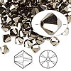 Bead, Swarovski crystal, Crystal Passions®, crystal metallic light gold 2X, 6mm Xilion bicone (5328). Sold per pkg of 144 (1 gross).