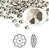 Bead, Swarovski crystal, Crystal Passions®, crystal metallic light gold, foil back, 6x2mm faceted marguerite lochrose flower (3700). Sold per pkg of 144 (1 gross).