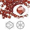Bead, Swarovski crystal, Crystal Passions®, crystal red magma, 5mm Xilion bicone (5328). Sold per pkg of 144 (1 gross).