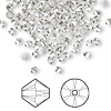 Bead, Swarovski crystal, Crystal Passions®, crystal satin, 3mm Xilion bicone (5328). Sold per pkg of 144 (1 gross).