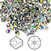 Bead, Swarovski crystal, Crystal Passions®, crystal vitrail medium, 4mm Xilion bicone (5328). Sold per pkg of 144 (1 gross).