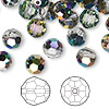 Bead, Swarovski crystal, Crystal Passions®, crystal vitrail medium, 8mm faceted round (5000). Sold per pkg of 144 (1 gross).